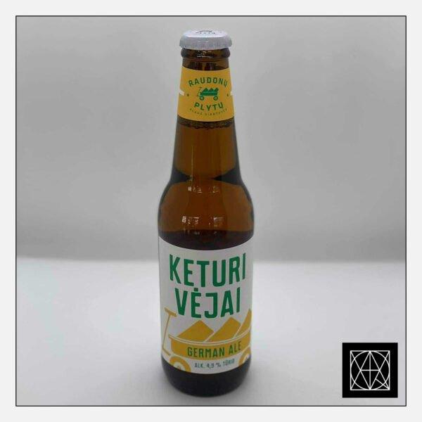RAUDONŲ PLYTŲ alus KETURI VĖJAI (4.9%), 330 ml