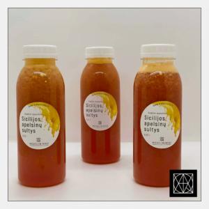 Šviežiai spaustos Sicilijos apelsinų sultys, 330 ml