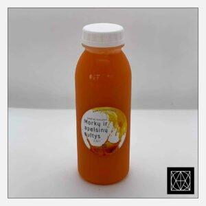 Šviežiai spaustos morkų ir apelsinų sultys, 330 ml